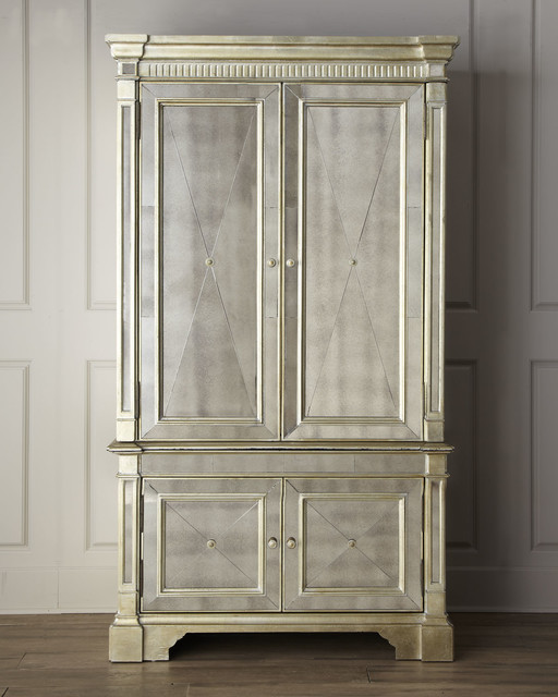 """""""Amelie"""" Mirrored Cabinet - Traditional - Other - by Horchow"""