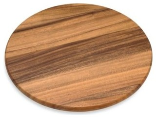 Acacia 16-Inch Wood Lazy Susan - Contemporary - Pantry And ...