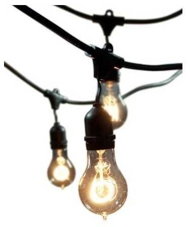 String Light 48 Foot 15 Light Kit - Modern - Outdoor Rope And String Lights - by Lightology