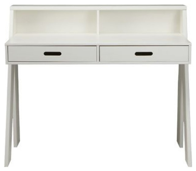 bureau bois fsc ewout couleur blanc moderne meuble. Black Bedroom Furniture Sets. Home Design Ideas