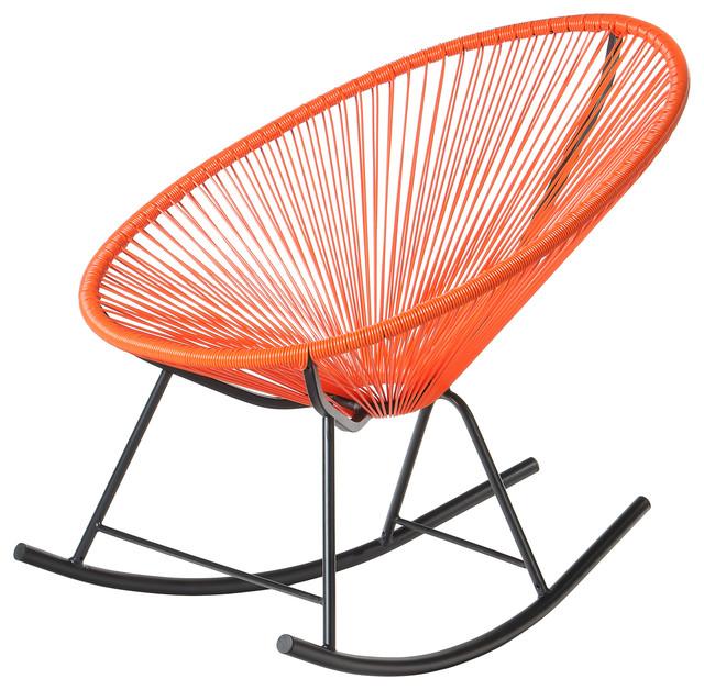 Polivaz mayan hammock acapulco rocking chair orange contemporary rocking chairs by polivaz