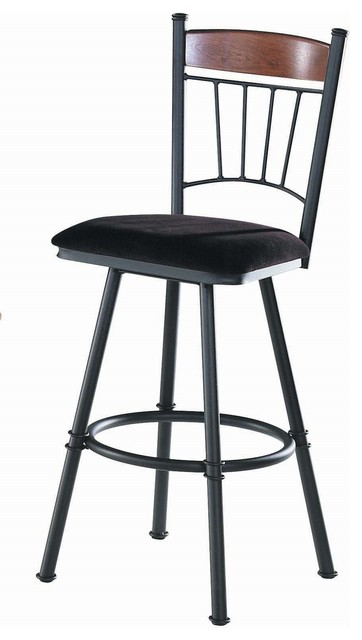 Trica Allan Swivel Bar Stool 34 Inches Spectator Height