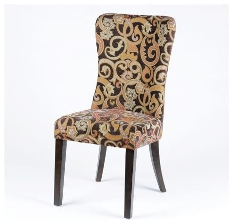 Mocha Swirl Accent Chair Traditional Armchairs And