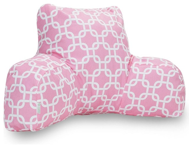 Soft pink links reading pillow traditional bed pillows for Soft bed pillows