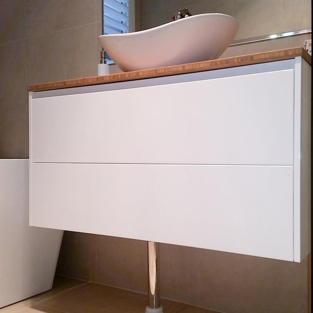 Mount Coolum Modern Bathroom Vanities And Sink Consoles Sunshine Coast By Bamboo Vanity Tops
