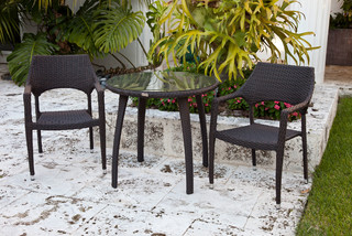 patio set end table 2 chairs contemporary outdoor side tables