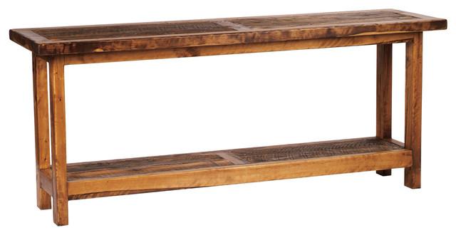 5 foot rustic barnwood reclaimed wood sofa table 60 inch