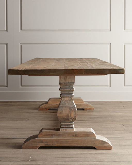 Natural dining table traditional dining tables other for Traditional dining table for 8
