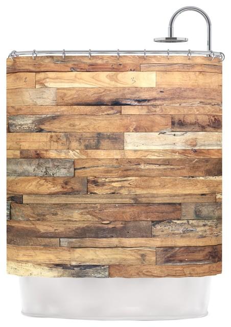 Susan Sanders Campfire Wood Rustic Shower Curtain Modern
