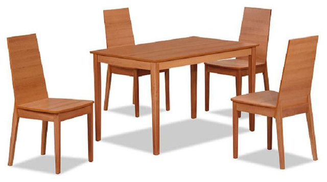 Contemporary style wooden complete dining room sets for Complete dining room sets
