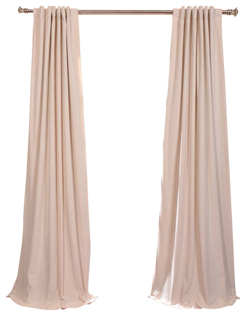 signature ivory blackout velvet curtain traditional