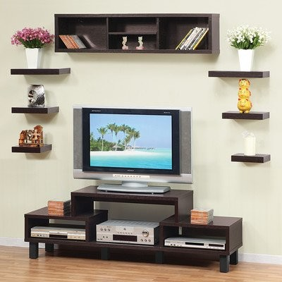 somer hanging shelves and cabinet modern display and wall shelves