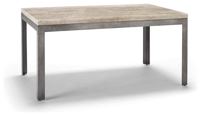 Sawyer Travertine Coffee Tables Contemporary Coffee Tables By