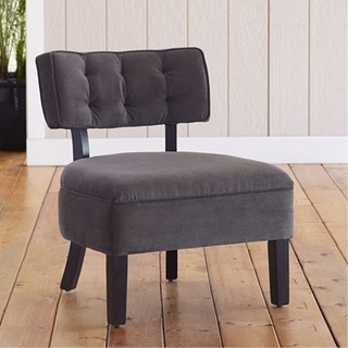 logan armless chair contemporary armchairs accent chairs by