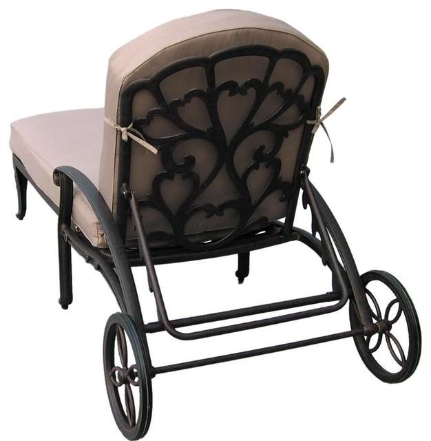 Darlee catalina cast aluminum patio chaise lounge for Catalina chaise lounge