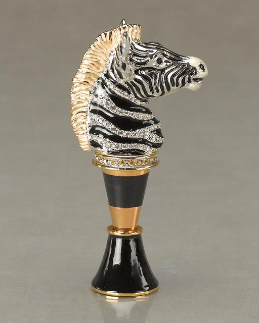 Zebra Head Wine Stopper Contemporary Wine Aerators And