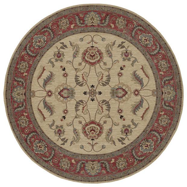 Karastan Ashara Agra Ivory, 00549-15005, Area Rug, 9'x9