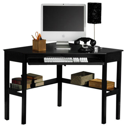 Alexander Corner Computer Desk In Black Contemporary