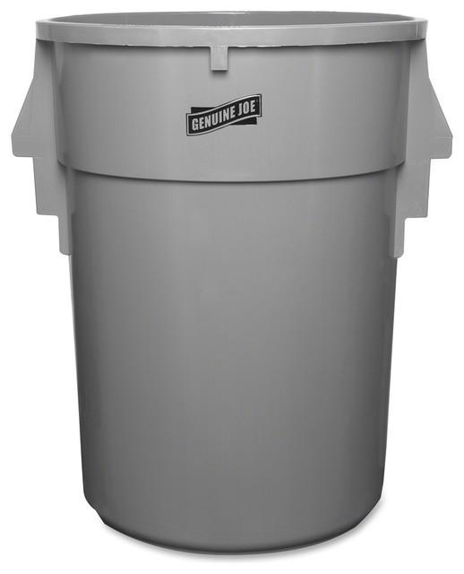 Genuine Joe Back Saver Trash Receptacle 44 Gal Capacity