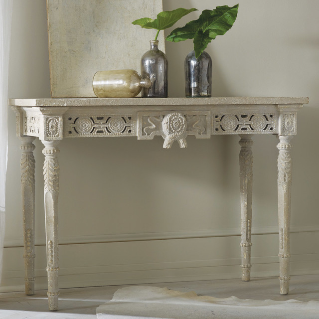 Modern History Home Pierced Console Table Modern Dining Tables By Layla Grayce