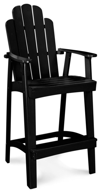 30 patio adirondack bar stool rustic black pearl traditional outdoor bar stools by dcg Rustic outdoor bar stools