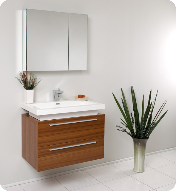 Floating bathroom vanities contemporary bathroom for Diy floating vanity sink