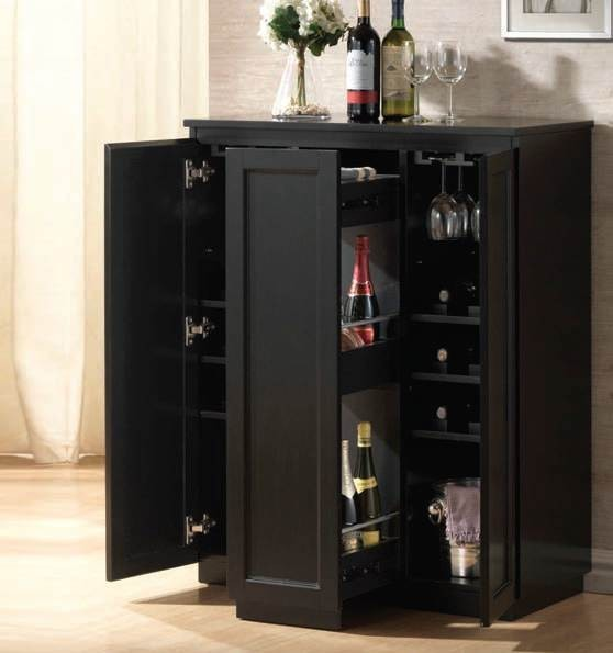 ACME Furniture Ioanis Black Finish Wine Bar