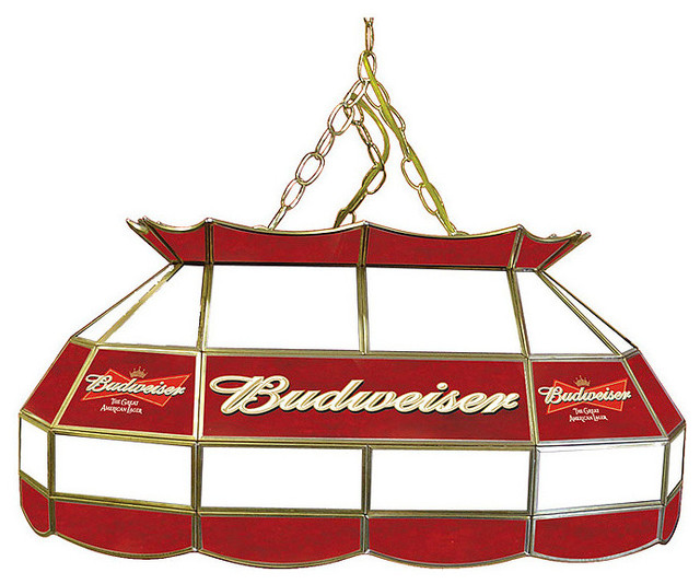 budweiser stained glass pool table light lamp. Black Bedroom Furniture Sets. Home Design Ideas