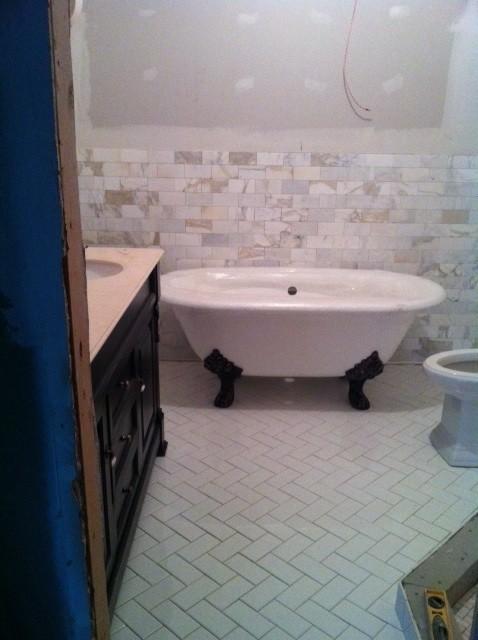 Help me with my master bathroom calacutta gold marble for Help me design my bathroom