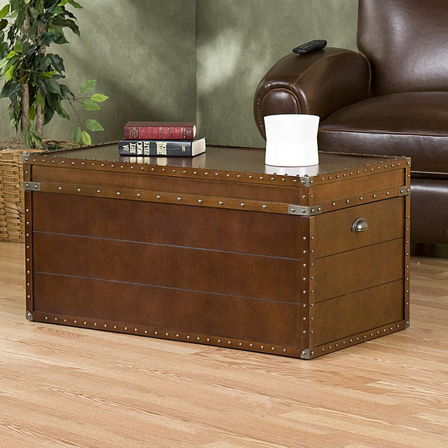 Upton Home Steamer Trunk Cocktail Table Contemporary Coffee Tables By