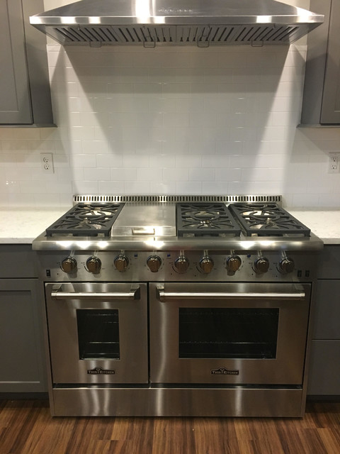 "Thor Kitchen 48"" Double Oven Gas Range modern-kitchen"