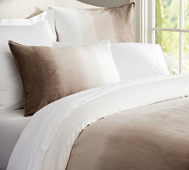 Ombr 233 Linen Duvet Cove Neutral Contemporary Duvet