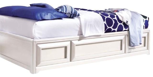 twin platform storage bed white 2