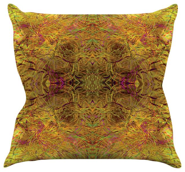 Goldenrod Throw Pillow : Nikposium