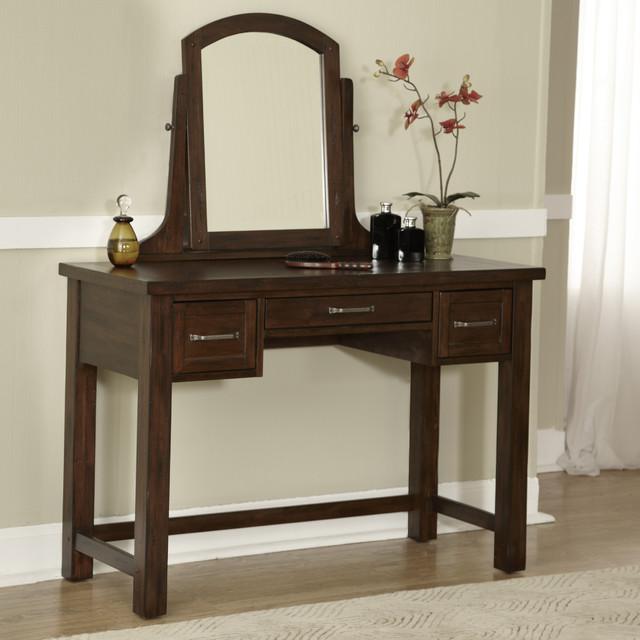 Cabin Creek Vanity And Mirror Contemporary Bathroom