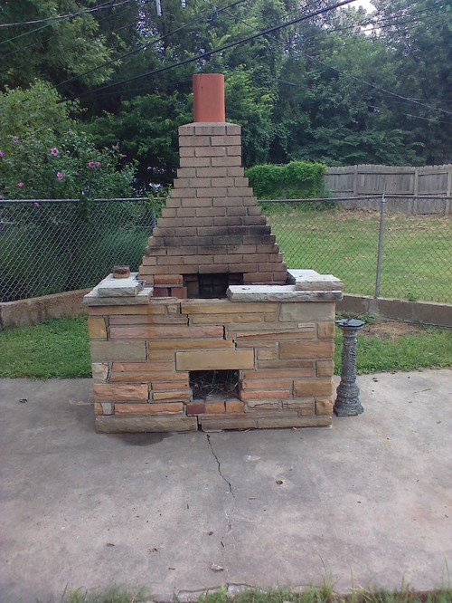 Outdoor oven or fireplace or both for Household incinerator design