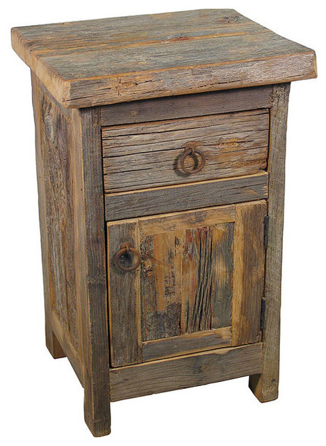 Rustic Barn Wood Nightstand