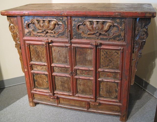Chinese Antique Locking Cabinet - Asian - Nightstands And Bedside Tables - new orleans - by Silk ...