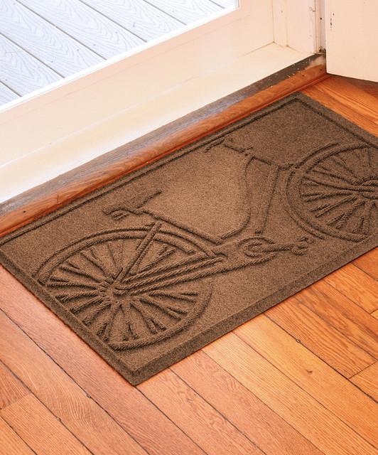 dark brown bicycle aqua shield doormat modern doormats