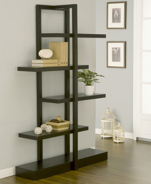 furniture of america addison cappuccino bookcase display stand contemporary home decor