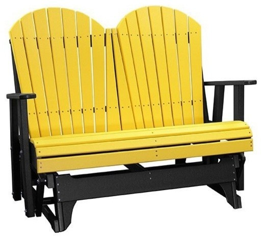 Adirondack Recycled Plastic Patio Glider Modern Garden Gliders Boston