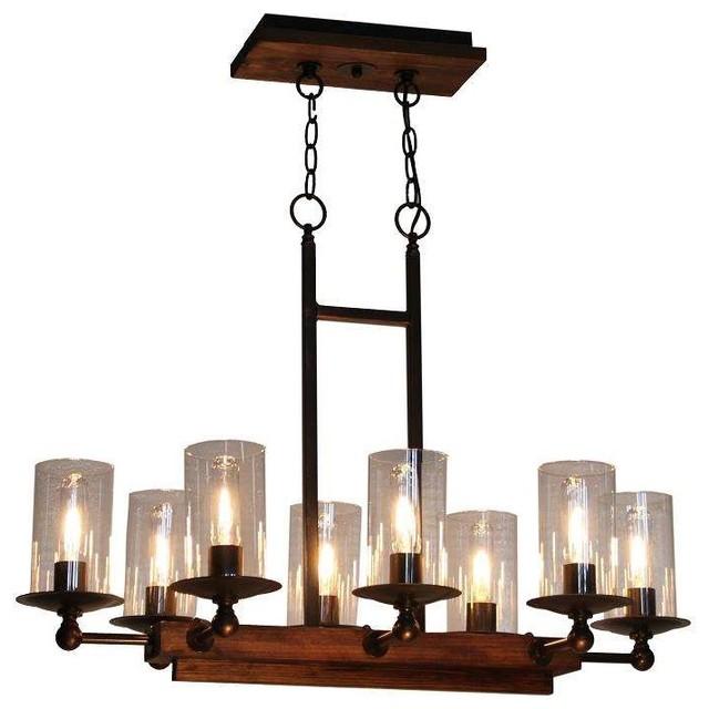 artcraft lighting ac10148 legno rustico island light