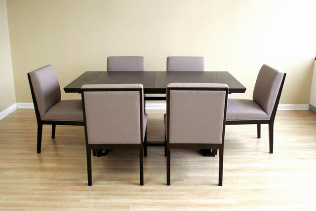modern extendable wooden furniture dining set modern