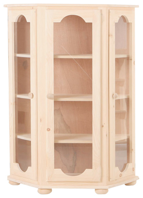 Dallas Curio Cabinet - Rustic - China Cabinets And Hutches - by Chelsea Home Furniture, Inc.