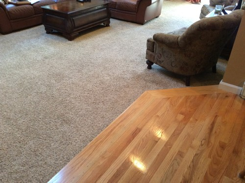 Replacing carpet new hardwood floor color for Carpet and paint color combinations