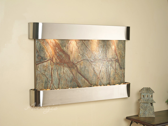 Wall water features the sunrise springs wall fountain for Fontane per interni