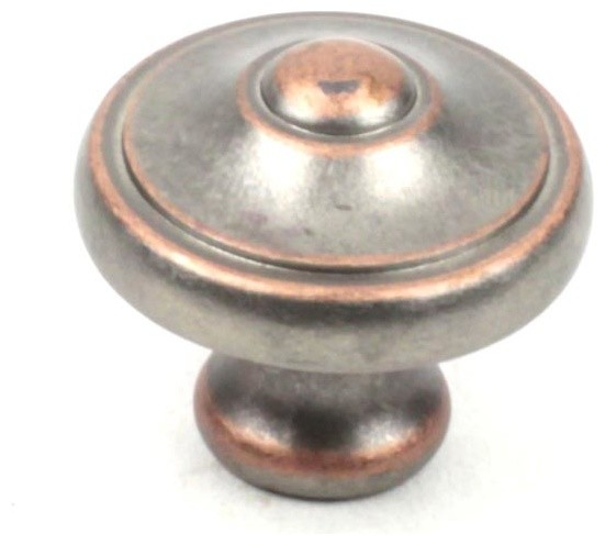 Century Hardware 29227-WNC Cabinet Knob - Country Series - Weathered Nickel w/ C - Contemporary ...