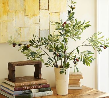 Faux Olive Branch Traditional Artificial Flowers