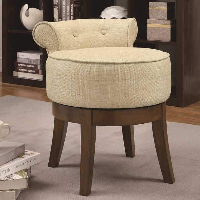 coaster 900121 beige linen like fabric vanity stool accent and storage benches los angeles. Black Bedroom Furniture Sets. Home Design Ideas