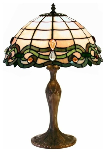 tiffany style table lamp traditional table lamps by warehouse of. Black Bedroom Furniture Sets. Home Design Ideas